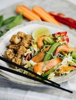 Satay Tofu asian salad-4 - Edited